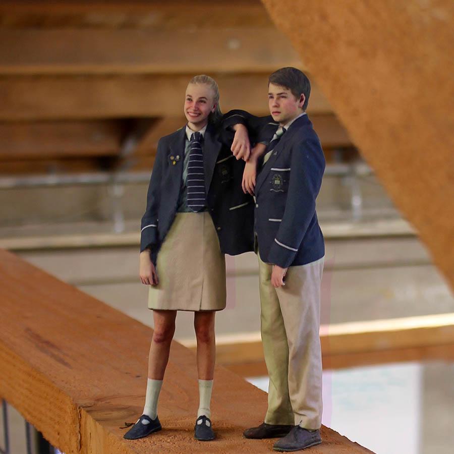 3D portrait of school kids